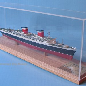 SS United States 1:900 scale model from Scherbak Ship Models