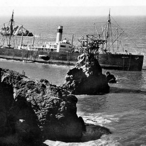 The Ohioan Shipwreck at Seal Rock, San Francisco in 1936