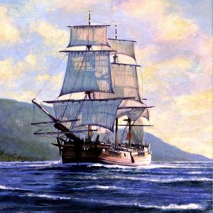 'Endeavour at Possession Island' by John Stevens MBE