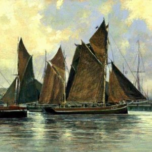 'Lowestoft Trawlers' by John Stevens MBE
