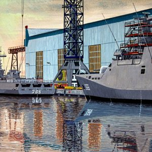 Naval Yard Flushing 2007-painting by frits
