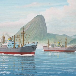 ALNATI entering Rio,painting by frits