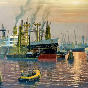 Averdyk in Rotterdam,painting by frits