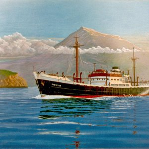 MENTOR,passing The Azores,painting by frits