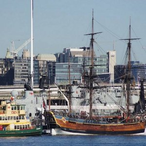 Sydney ferry and Endeavour