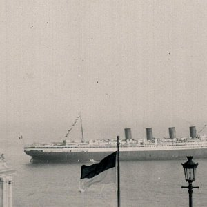 SS France off Monaco 1928
