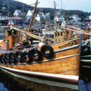 Herring Ring Netter Village Belle III-(TT34) at Tarbert, Loch Fyne-1962
