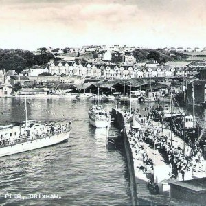 Brixham Harbour 1950's.
