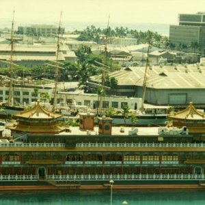 Honolulu, Sail ship = Falls of Clyde