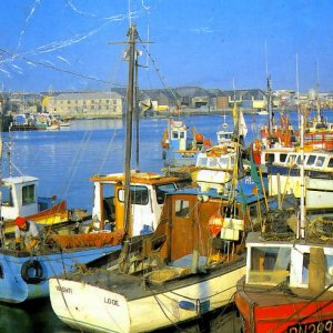 Small boats in Plymouth in 1982