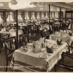 Royal Eagle. Main Dining Saloon.