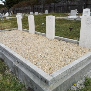 HMS Exeter crew graves on Falklands Island