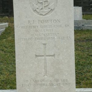 HMS Exeter1940, crew grave on Falkland Islands in 2020