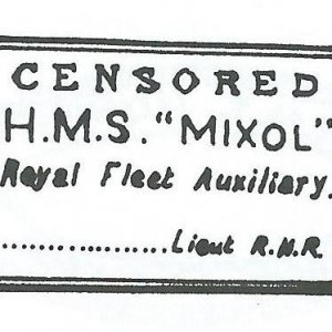 RFA Mixol Censors stamp