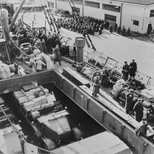 German troops unloading in Oslo