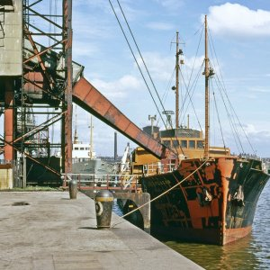 The vessel being loaded at the 25 ton coal hoist is the 'Ballylagan' - photo Bill Wright.jpg