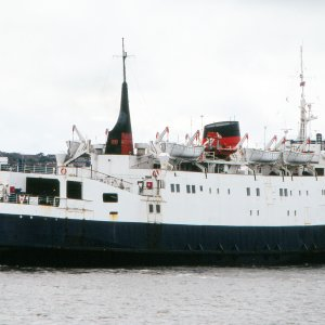 PANAGIA SOUMELA (ex LADY OF MANN) sailing Liverpool on 22.10.05 Malcolm Cranfield.jpg