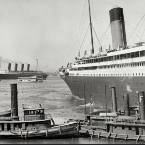 New York. June 21, 1911 the Olympic and the ill-fated Lusitania in the distance..png