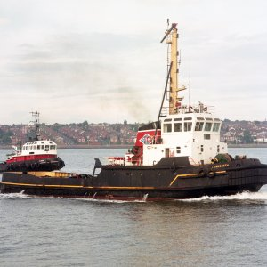 OAKGARTH (with ALBERT) in Mersey 26 July 1996 Malcolm Cranfield.jpg
