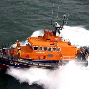 Relief Trent lifeboat at Fenit