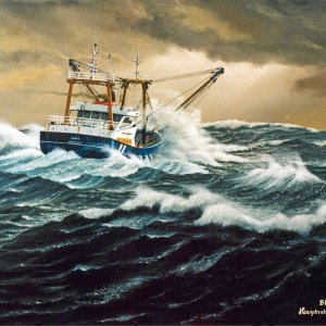 fisherman BR-43,painting by frits