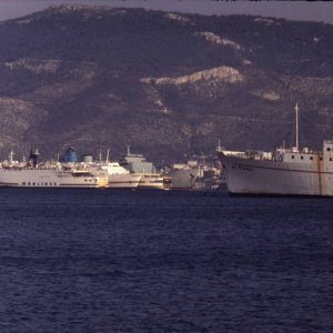 Laid up ships in Eleusis Bay (Greece)